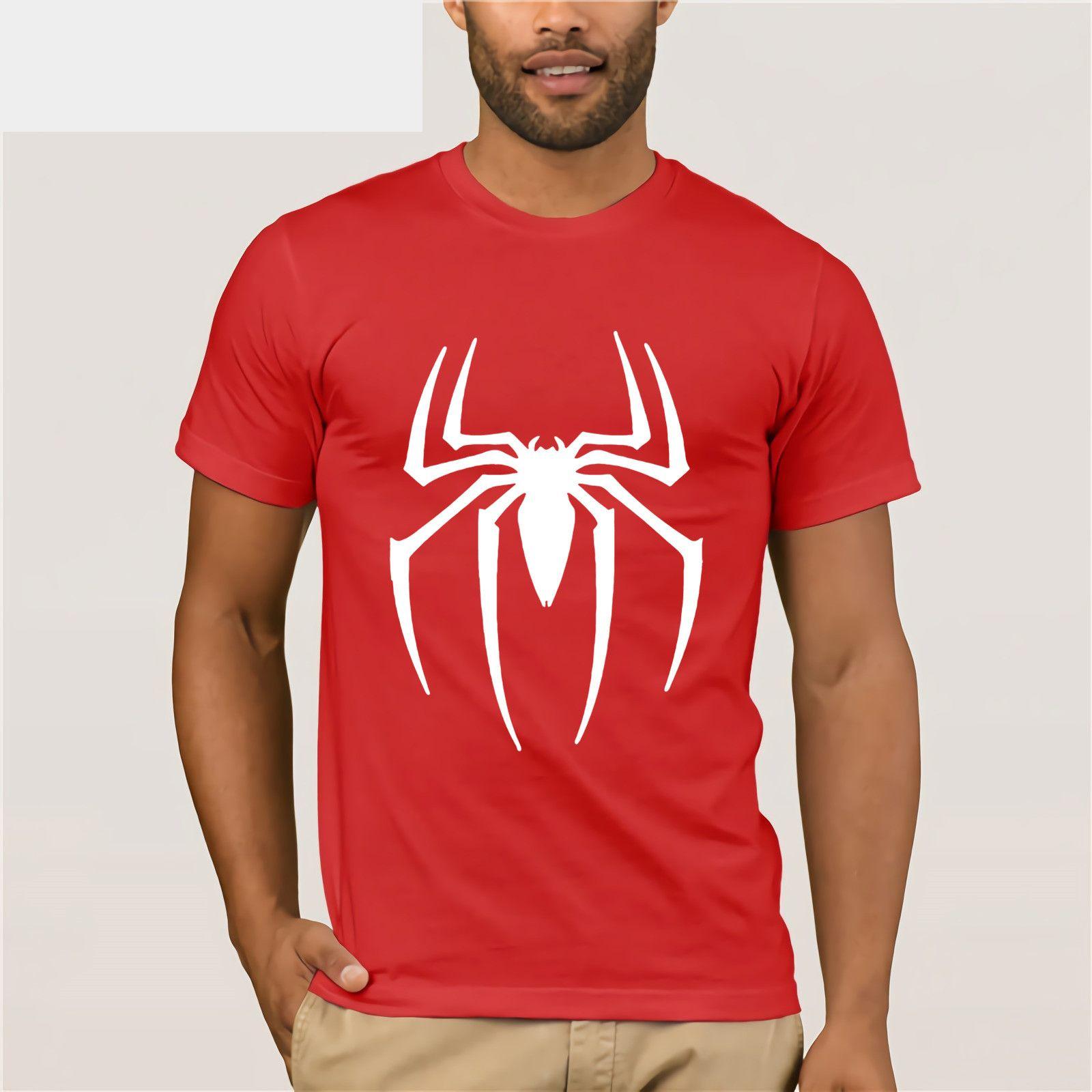1c52ba2ca Spider Man Logo Print T Shirt Men Black Superhero Fashion T Shirt Spiderman  Tee Top Teenage Boy Tshirt The Avengers Clothing Tee Shirt Of The Day Link  ...