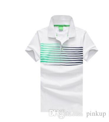 Acheter Les Hommes D été Européens Et Américains De Pur Coton Été Loisirs  Polo Imprimé Polos Hommes T Shirts En Soie De Marque De Coton Pour Hommes. 0ff37720b293