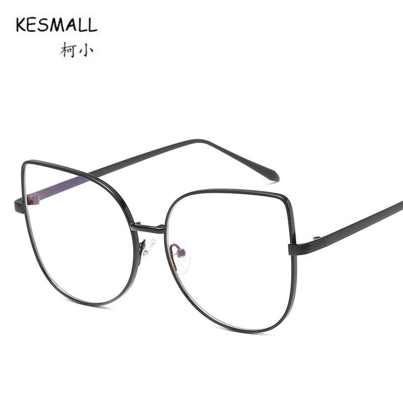 2018 KESMALL 2018 New Vintage Cat Eye Glasses Frame Men Women ...