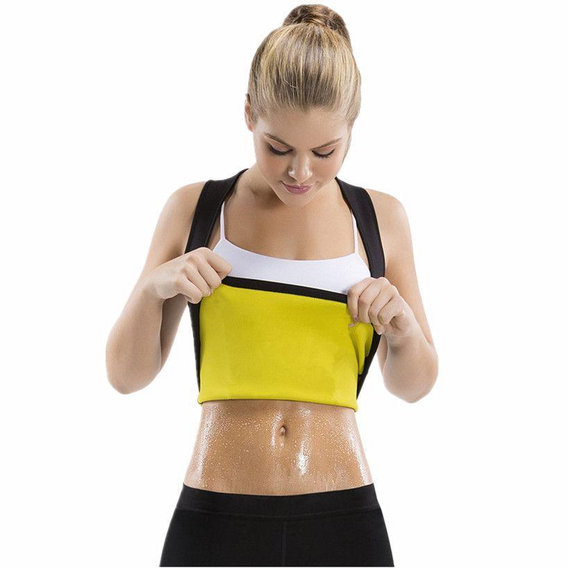 82329d3d69 2019 Women S Shaper Neoprene Sweat Sauna Hot Body Shapers Vest Waist  Trainer Slimming Shirt Shapewear Weight Loss Waist Shaper Corset From  Purlove