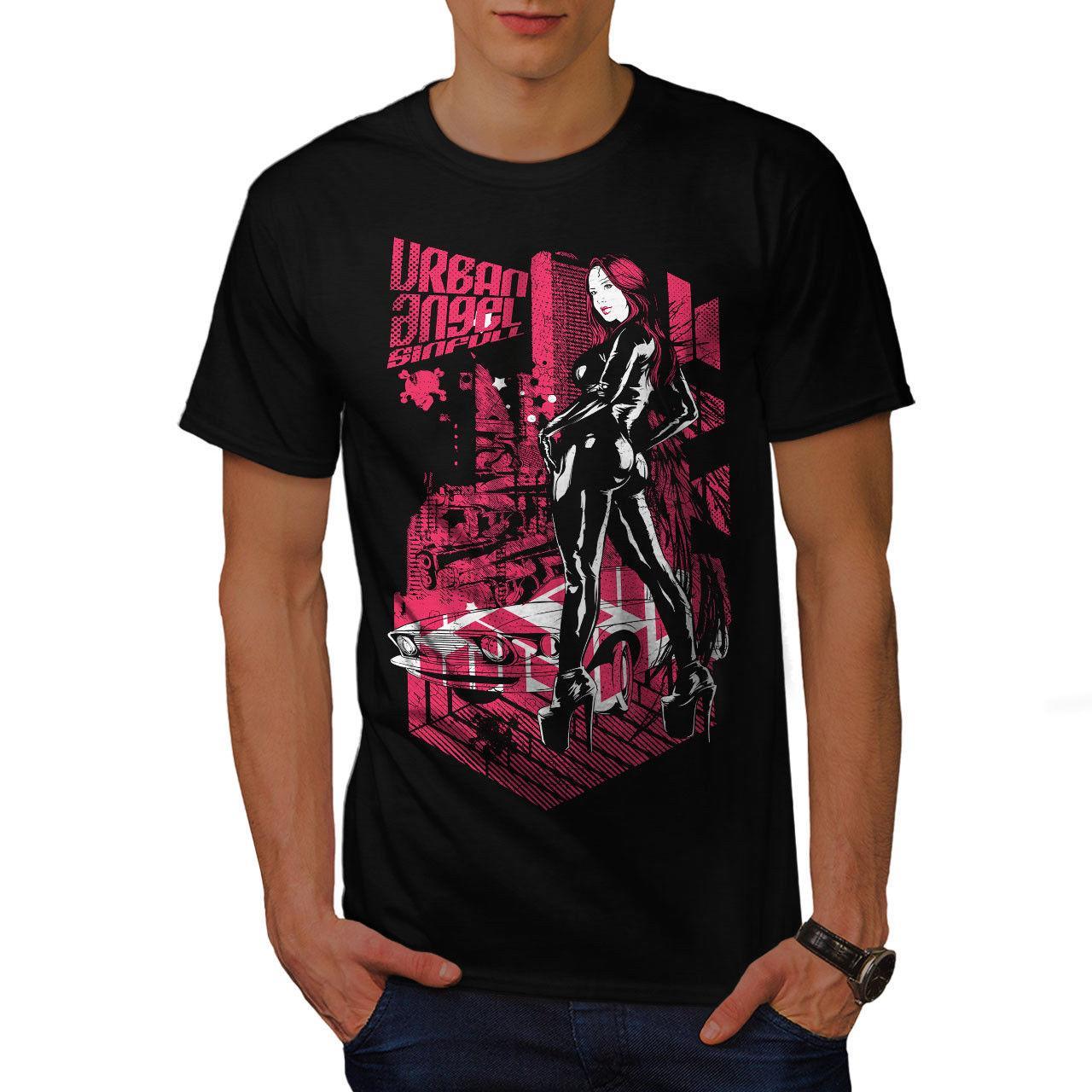544be9424196f Wellcoda Urban Girl Street Fashion Mens T Shirt