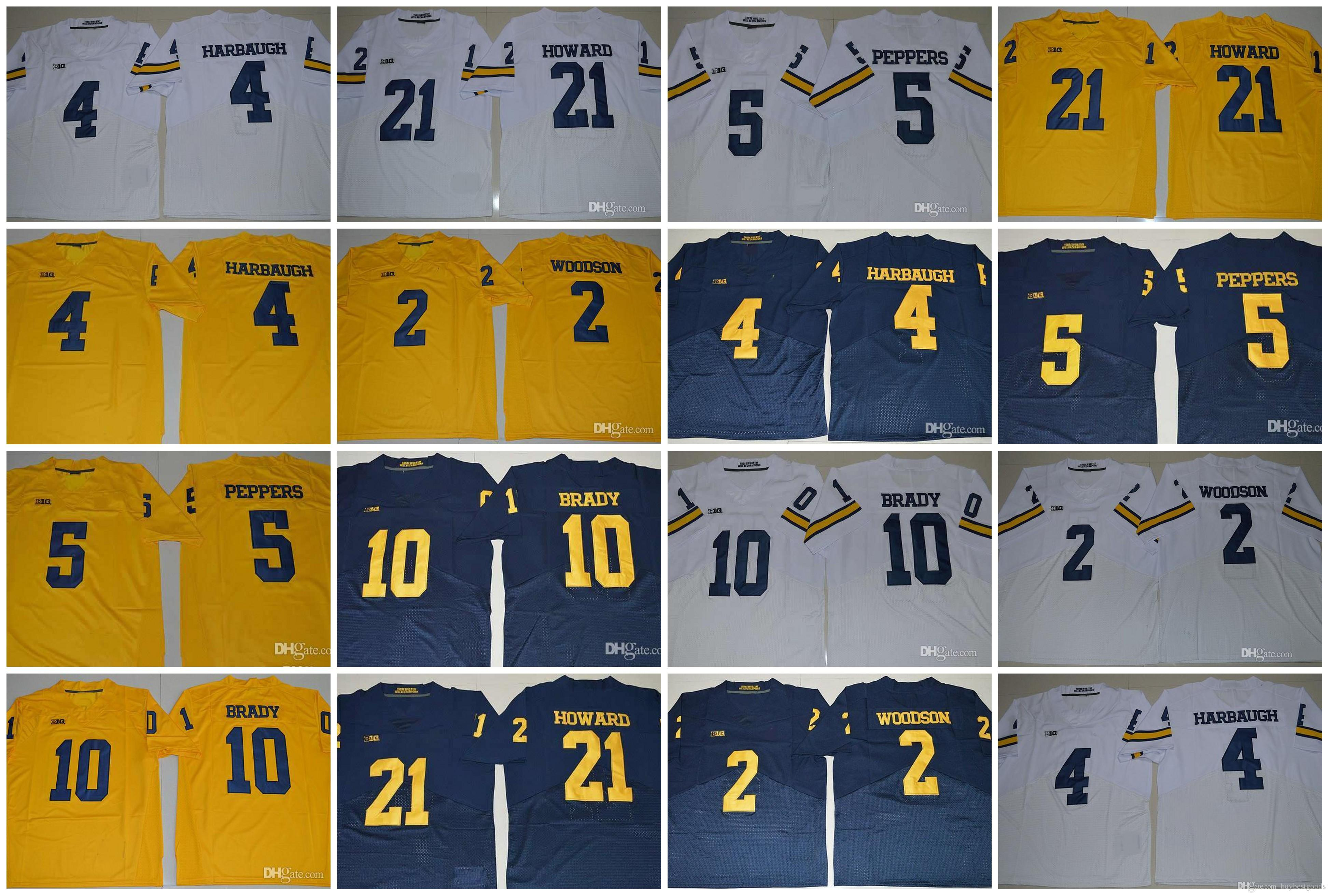 2018 Michigan Wolverines College Football Jerseys 2 Charles Woodson ... 595c697f3