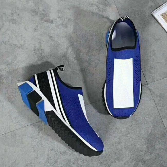 2018 vendedores calientes más nuevos del diseñador de las mujeres de los hombres zapatillas de deporte casuales del calcetín zapatos amarillos de las mujeres zapatos de los hombres azules calcetín 35-46 con la caja