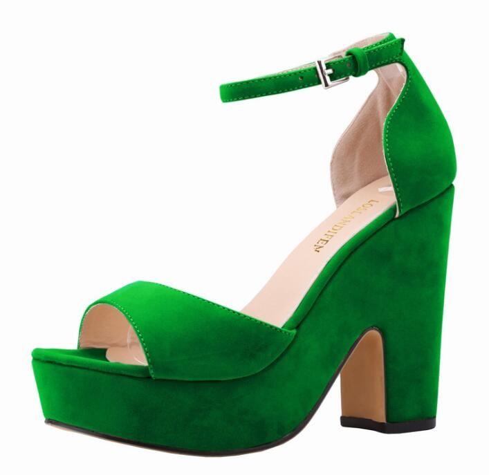 Heiß! Frauen Schuhe Sexy High Heels Plateauschuhe Peep Toe Pumps Damen Kleid Fashion Flock Hochzeitsschuhe Lady Pumps 9 Farben