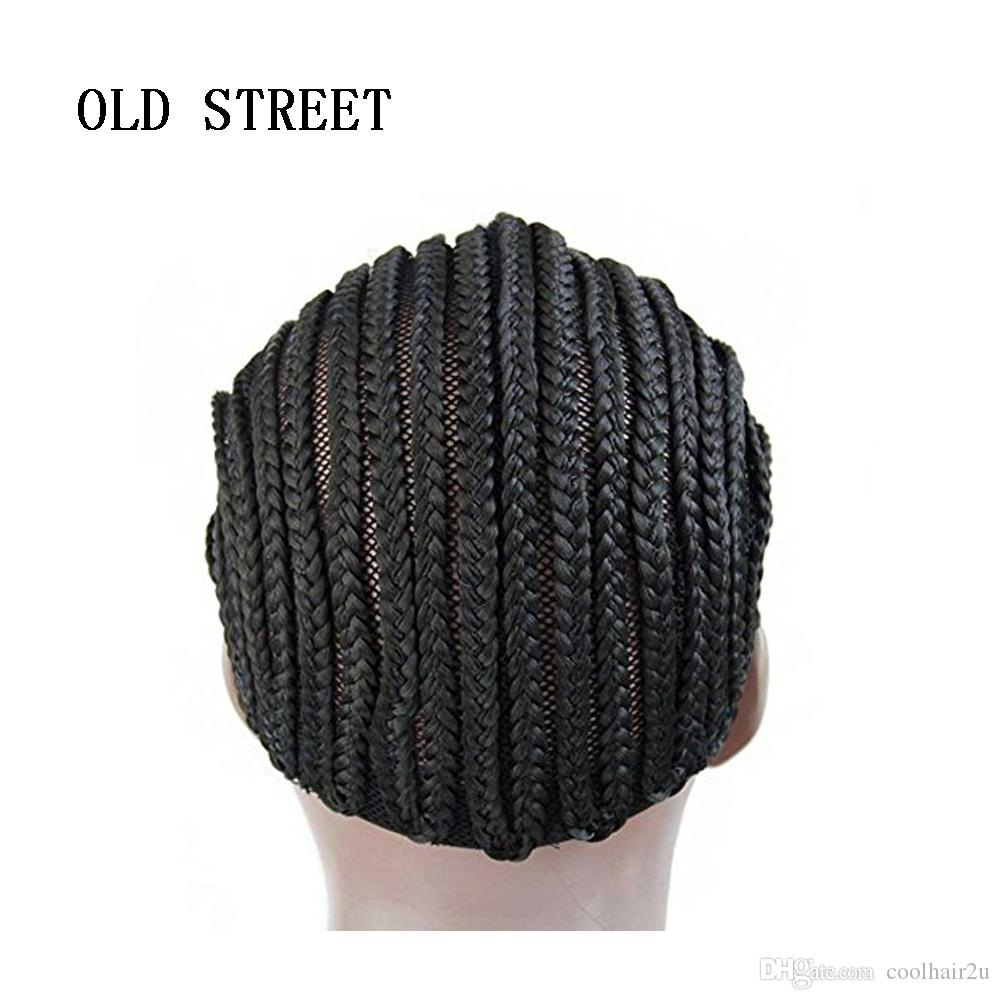 3 Parça Siyah Tutkalsız Saç Net Astar Tığ Örgü Peruk Örgü Örgü ve Tığ Örgü Peruk için Caps
