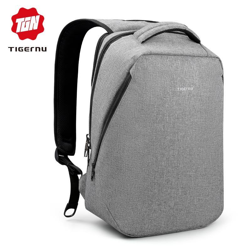 Tigernu Brand Cool Urban Backpack Men Unisex Light Slim Backbag
