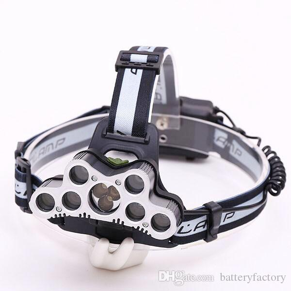 led headlamp 9 CREE XML T6 LED headlight usb rechargeable head lamp 18650 high power led torch head flashlight+2 18650 Battery+Cable