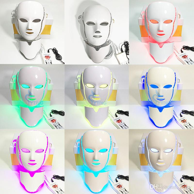 Light Led Therapy Face Neck Mask Skin Care Rejuvenation Pdt Photon ...