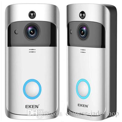 EKEN Home Video Sonnette sans fil 2 720P HD Wifi Vidéo en temps réel Audio bidirectionnel Vision nocturne PIR Détection de mouvement avec des cloches