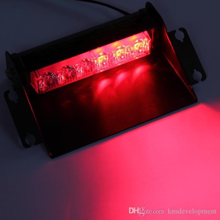 6LEDX1WWindshield Dash Light Bar Emergency Hazard Warning Led Strobe Light  with 18 Watt Led Light Beads Cigarette Lighter