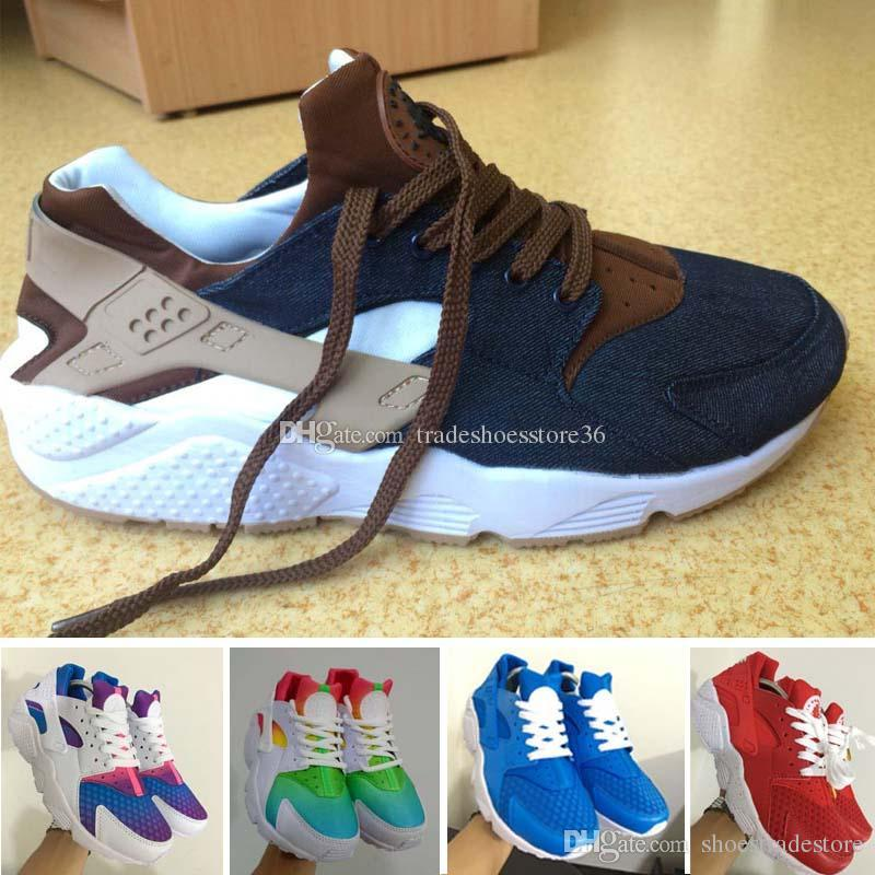 low priced 2b035 b96b8 2017 Huarache ID Custom Breathe Running Shoes For Men Women,Woman Mens Navy  Blue Tan Air Huaraches Multicolor Sneakers Athletic Trainers Shoes Running  Boys ...