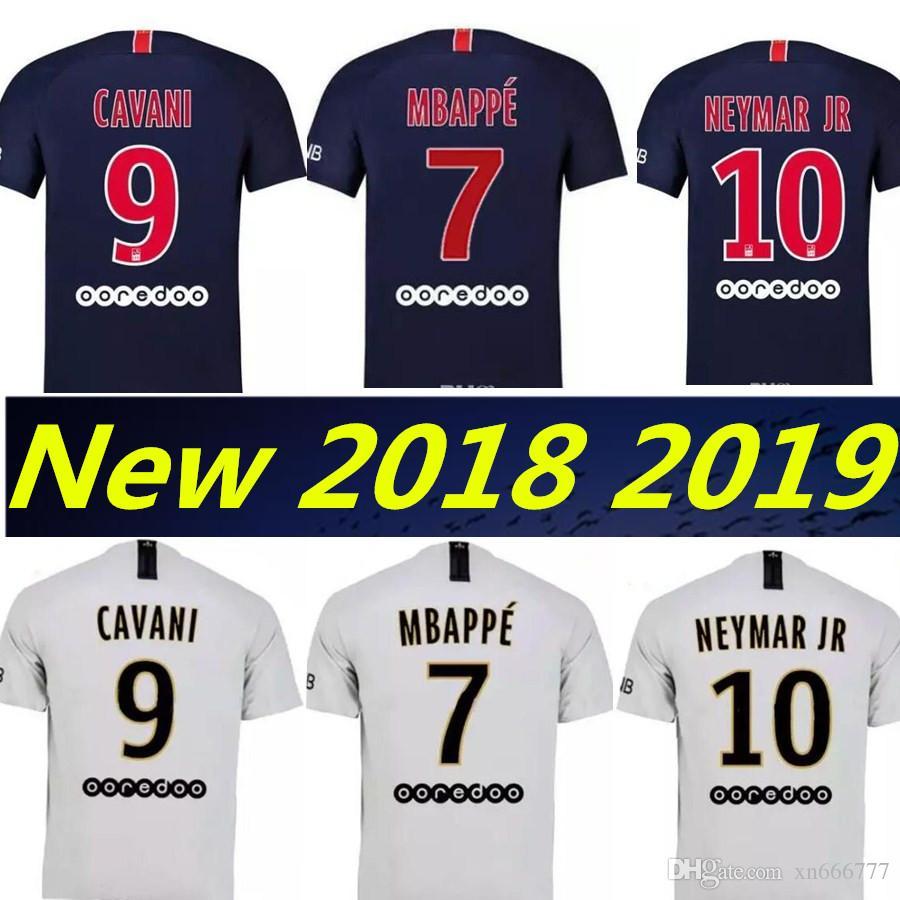 2019 2019 7  MBAPPE NEYMAR JR CAVANI Jerseys Top Thailand Maillots Home  Away Soccer Jersey 18 19 Football Kit Shirt Women Maillot De Foot From  Xn666777 1756fad60