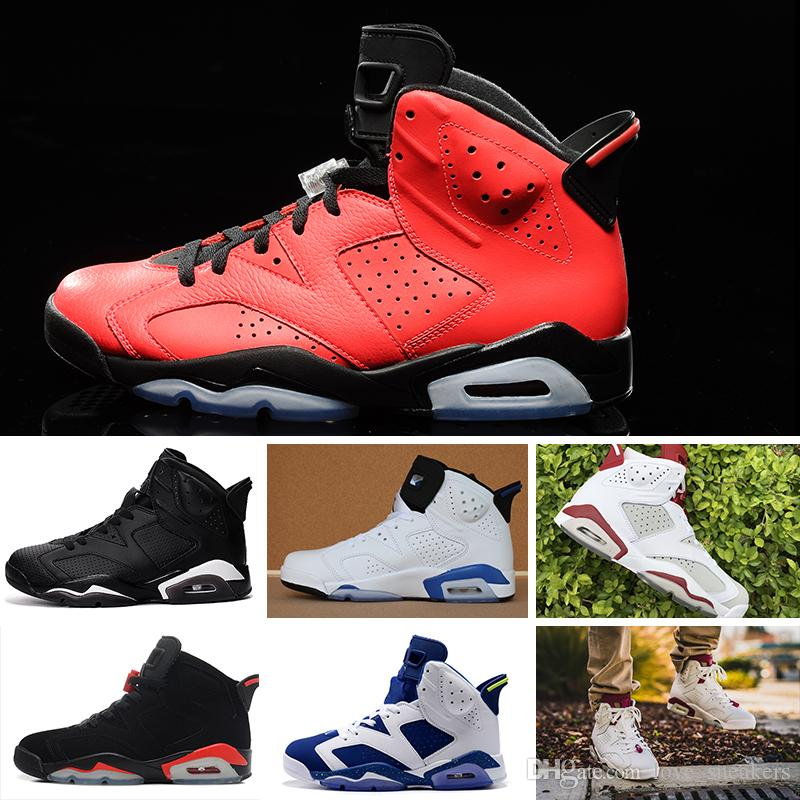 huge discount 2f1f8 0203d Compre Basketball Shoes Zapatos Designer Sneaker Shoes 2018 Shoes 6 6s Para  Hombre UNC 3M Black Cat Infrared 23 Carmine Maroon Oreo Size US 7 13 A   95.44 ...