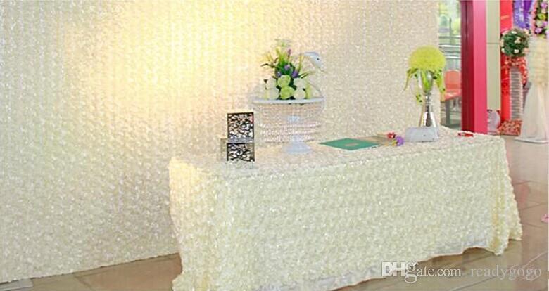 وصول جديدة فاخرة الزفاف المركزية تفضل 3d روز البتلة السجاد الممر عداء ل حفل زفاف لوازم الديكور 14 اللون متاح