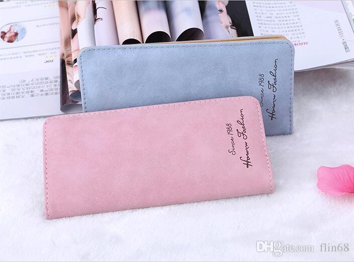 أعلى الساخن بيع جلد طويل محفظة رجل جيب بطاقة الفاصل Cente Bifold محفظة للنساء