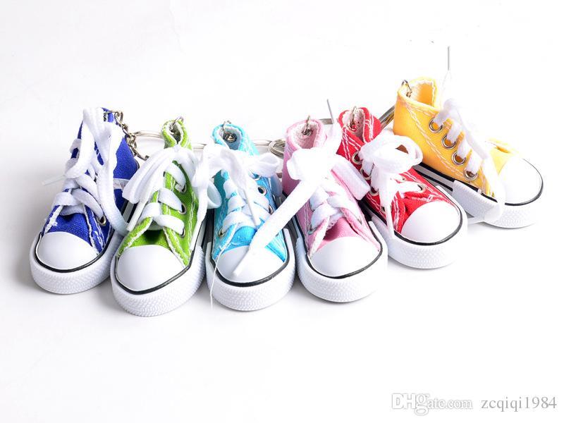 Moda carino scarpe sportive portachiavi Mini 3D scarpe da tennis sneaker portachiavi scarpe da tennis mandrini gioielli unisex