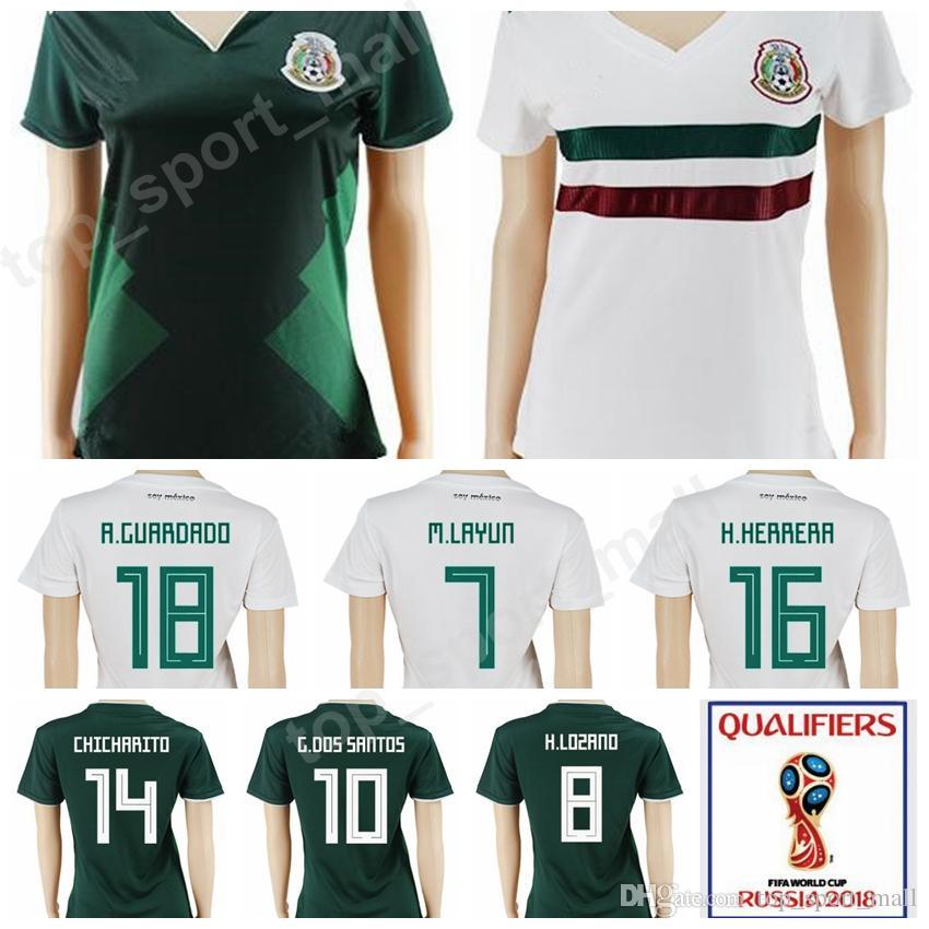 2019 World Cup 2018 Mexico Women OCHOA Soccer Jersey 16 Hector Herrera 18  Andres Guardado 19 Oribe Peralta G DOS SANTOS Football Shirt Woman Kits  From ... 619e194d1