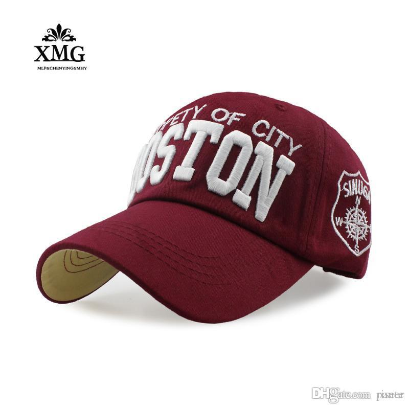 fa4f14bf311 2017 Fashion Boston Cap High-quality Cotton Bone Embroidery Baseball ...