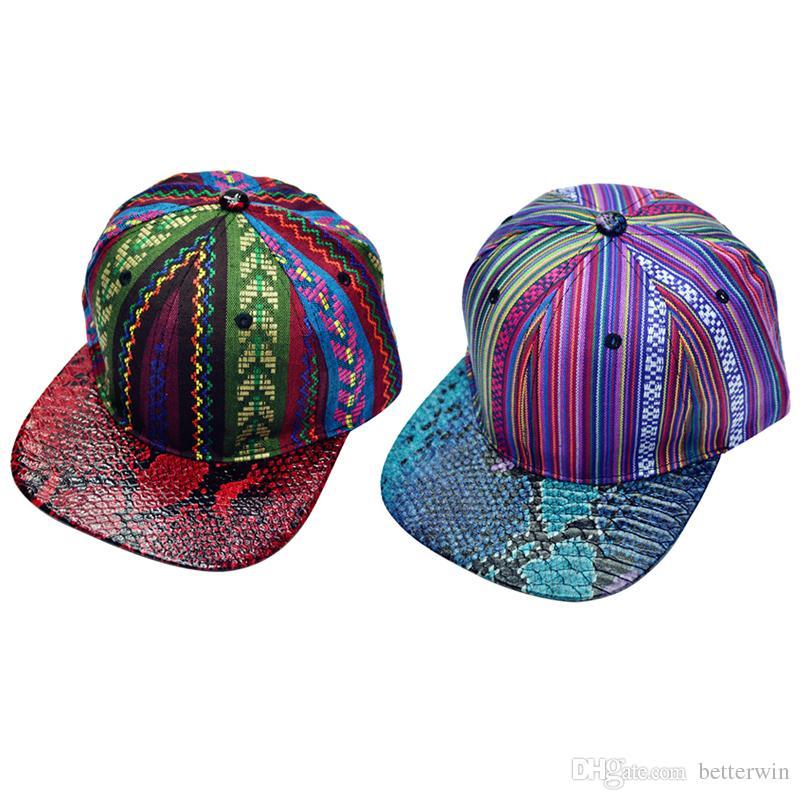 36ab291e / Snake Skin Printted Baseball Caps Men Women Flat Brim Bone Snapback Hat  Hip Hop Cap Casquette Hat Custom Fitted Hats Design Your Own Hat From  Betterwin, ...