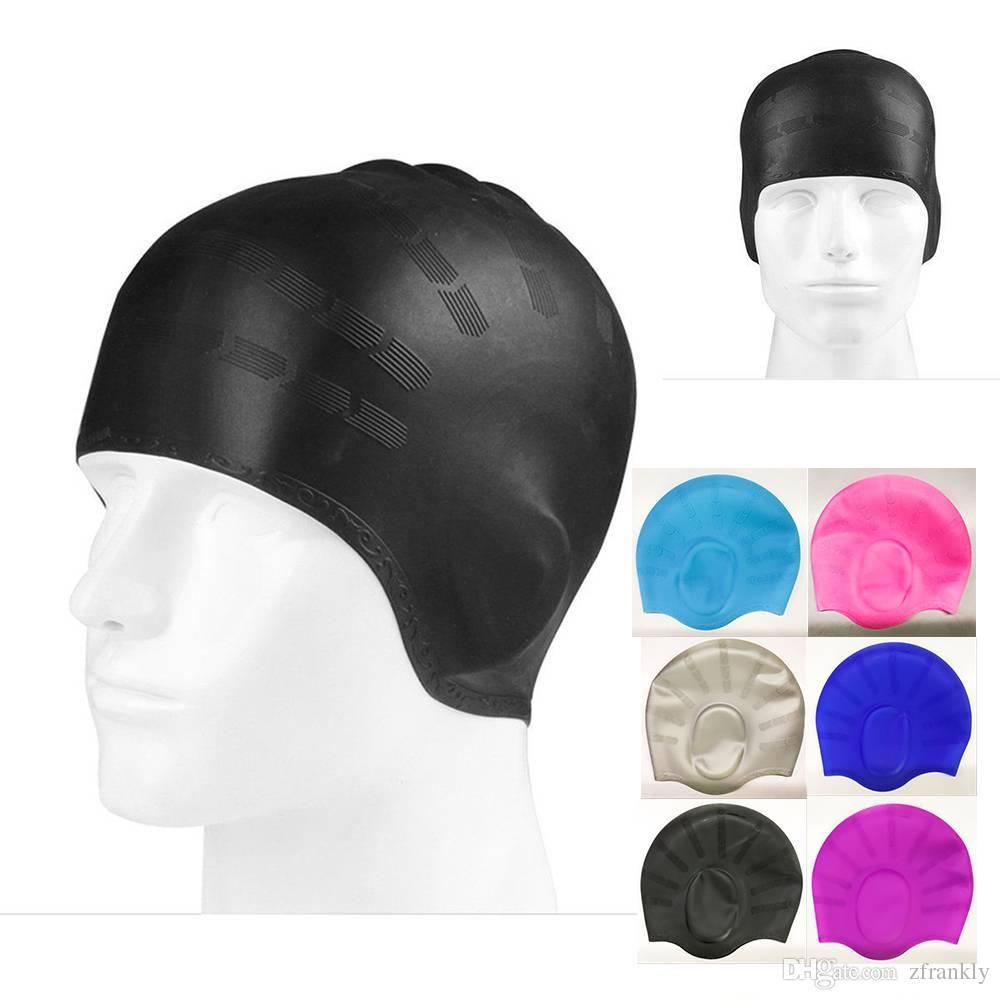 Acheter Nouveau Unisexe Adulte Silicone Bonnet De Natation Imperméable  Baignade Long Cap Chapeau Adulte Silicone Bonnet De Natation De  8.04 Du  Zfrankly ... 2f74357c594
