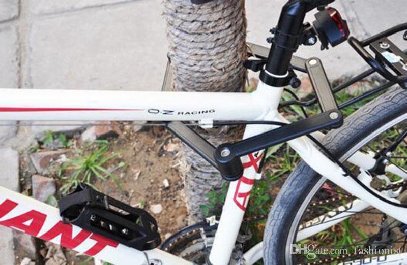 Fechamento da bicicleta dobrável bloqueio da corrente da bobina de aço da bicicleta anti-shear segurança bicicleta trava acessórios da bicicleta 3 cores