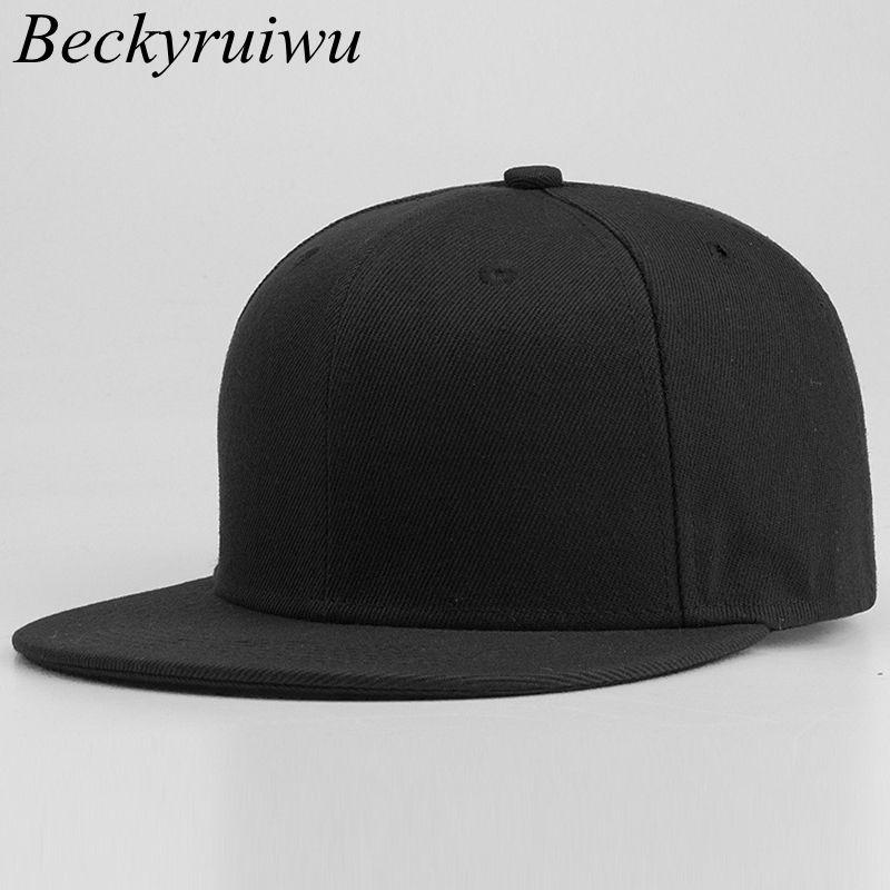 fcf3de5aea4 58cm 59cm 60cm Plus Size Snapback Caps Men Top Quality Pure Cotton Hip Hop  Cap Adult Solid Color Baseball Hats 59fifty Snapback Cap From Duoyun