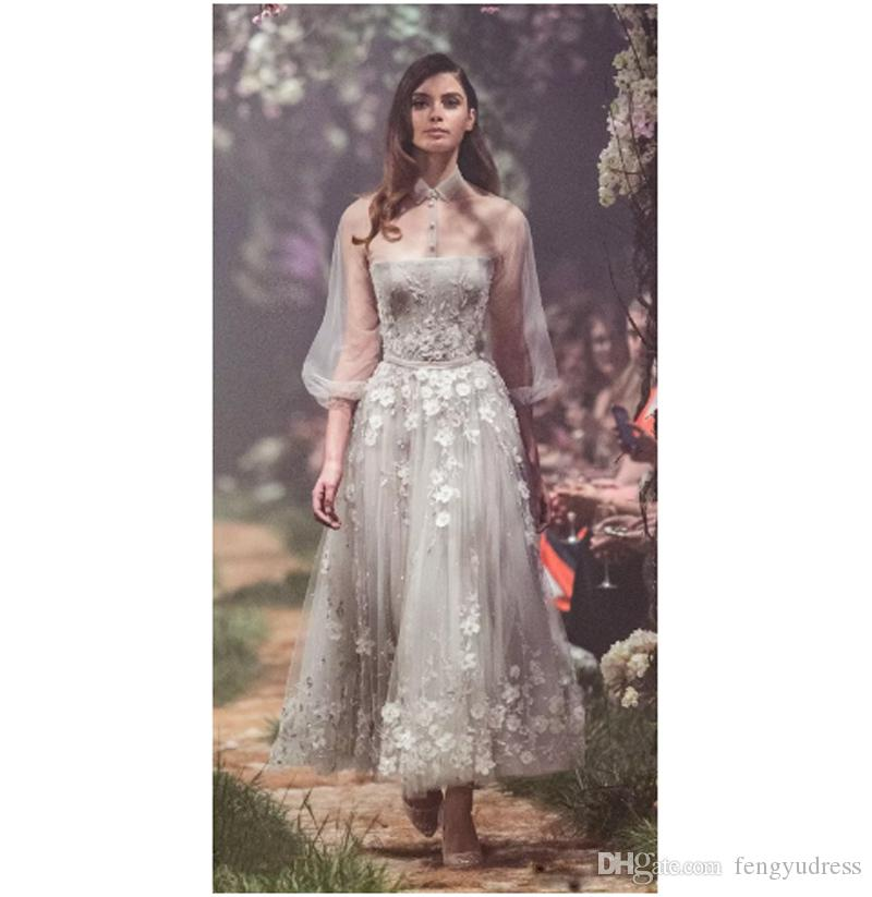 Date 3/4 Illusion manches robe de soirée élégante robe de bal des femmes tulle occasion spéciale s'habille formelle