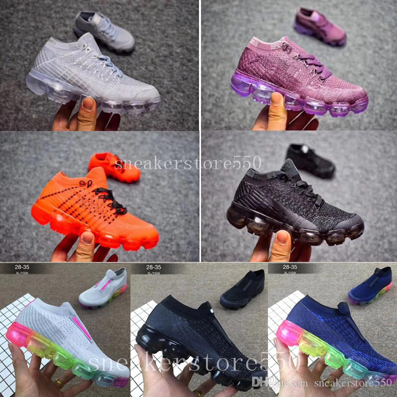 reputable site 83801 30542 Großhandel Nike Vapormax 2018 Air Max Airmax 2018 Vapormax Kinderschuhe  Skate Jungen Mädchen Laufschuhe Kinderschuhe Kinder Sportschuhe Größe 28 35  Von ...