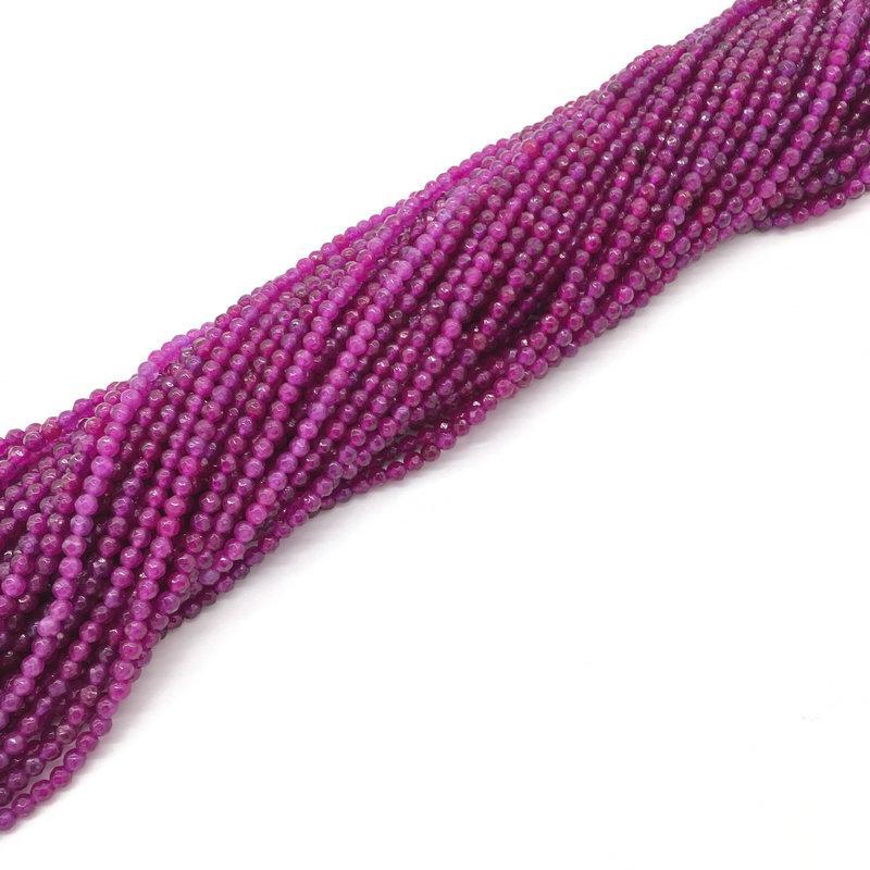 0830cbc19241 Compre Lo Nuevo 3mm Ronda Piedra Facetada Púrpura Amarillo Azul Onyx Amazon  Beads Granos De Piedra Natural Para La Joyería Que Hace DIY Pulsera Collar  A ...