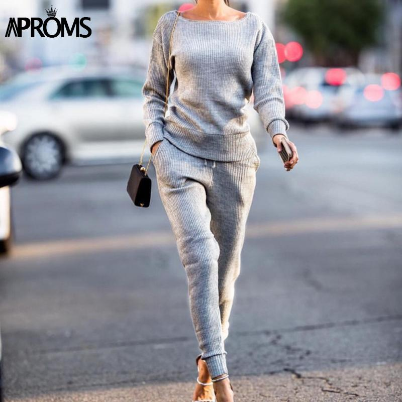 49905492aad 2019 Clearance Gray Ribbed Jumpsuits Womens Elegant Suit Slim Fit Rompers  Autumn Tracksuits Overalls For Women Clothing From Vikey16