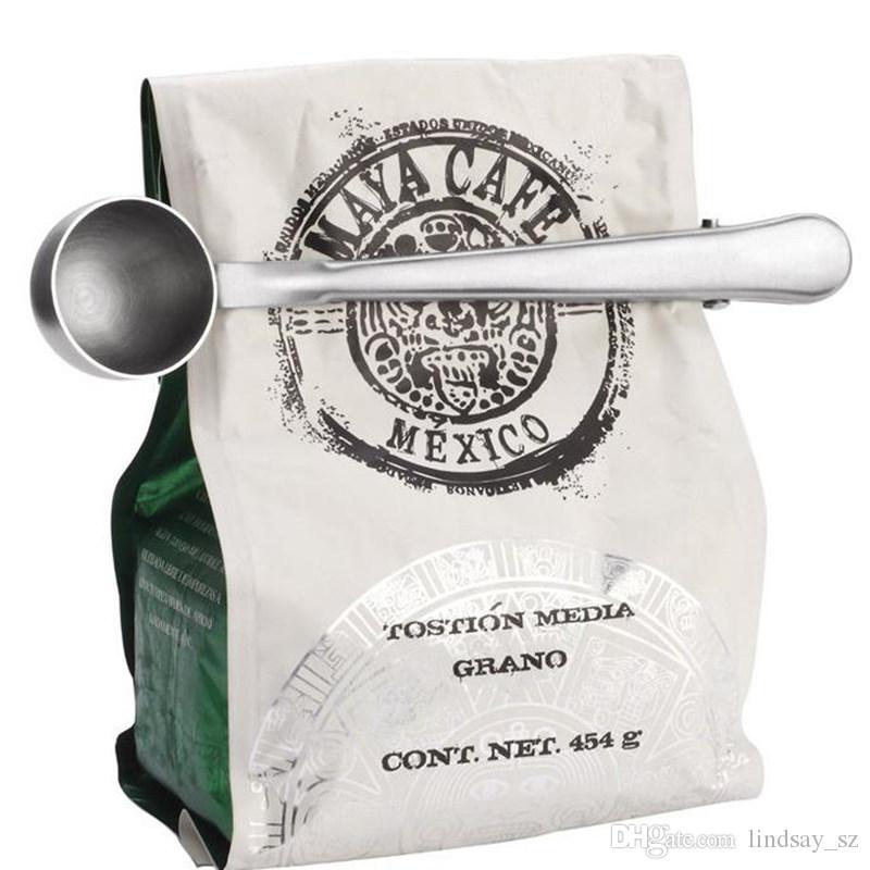 1000 ml 0,6 mm Dicke Edelstahl Kaffeelöffel, Milchpulver Löffel, Tee Löffel und Dichtung Clip schnelles verschiffen