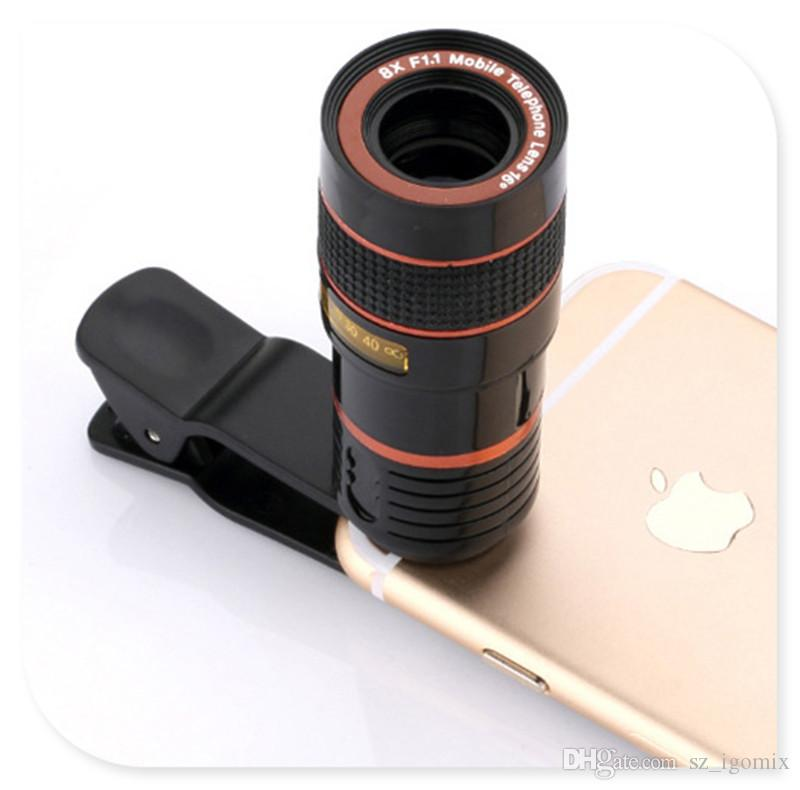 12X 8X Zoom Optical Phone Telescope Portable Mobile Phone Telephoto Camera Lens Clip for Huawei XiaoMi iPhone Samsung LG SONY