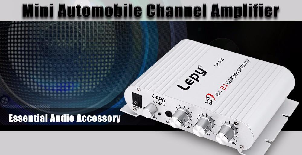 NC Mini Hi-Fi Stereo Amplifikatör Booster DVD Araba Oto Motosiklet Ev Ses Stereo Bas Hayır Güç Tak Hoparlör Amplifikatör