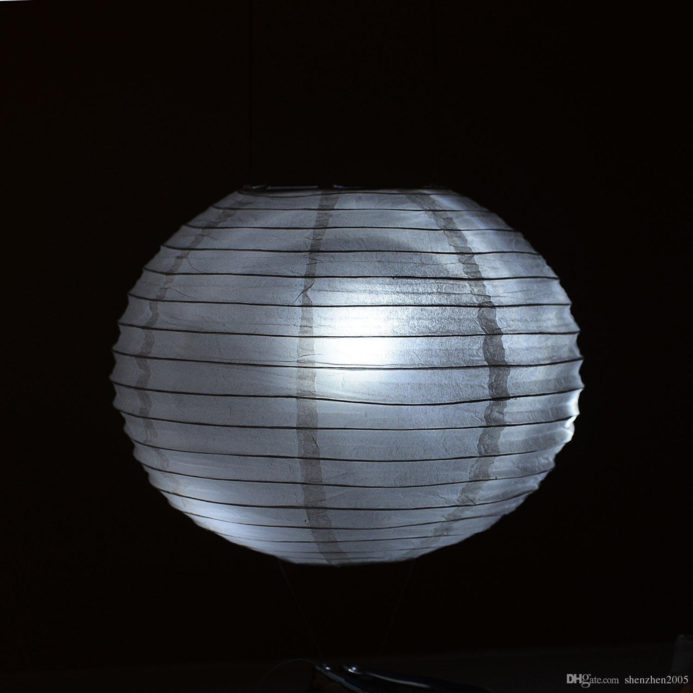 배터리 운영 LED 파티 조명 전구 용지 랜턴 풍선 파티 장식, 방수 - 화이트