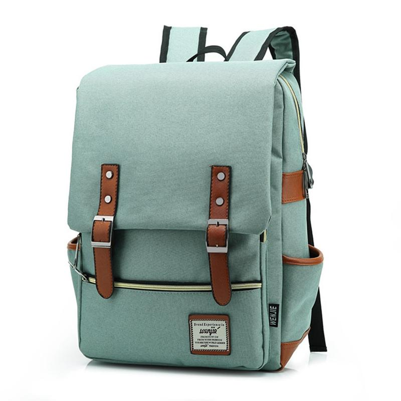 6a06de190f Vintage Fashion Women Backpack Large Canvas BackpacMens Laptop Travel School  Business Teenage Girls Square Satchel Bookbag Dakine Backpack Best Backpack  ...