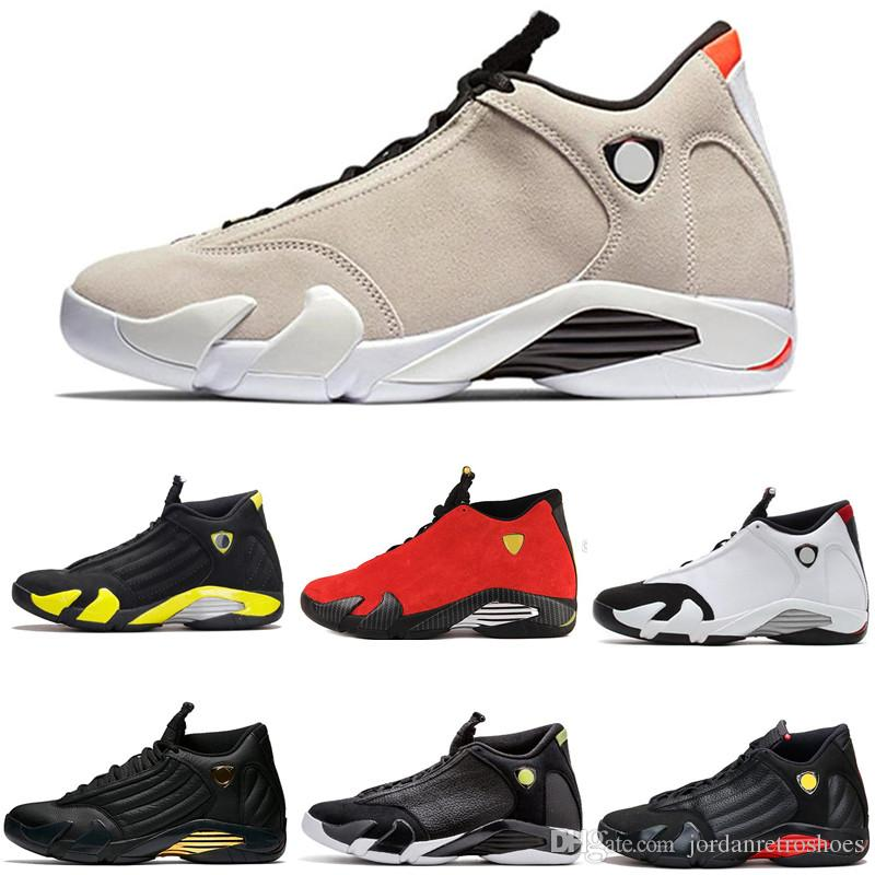 cheaper e759f f968c High Quality 14s Mens Basketball Shoes 14 DESERT SAND DMP Thunder Red  Yellow Black White Men Women Sneakers Shoes Size 7-13