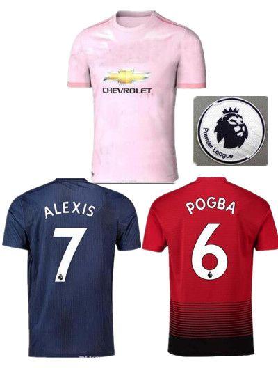 b46e9472eea 2019 18 19 FC Manchester United Soccer Jersey 2019 Man Jersey UTD POGBA  LUKAKU RASHFORD ALEXIS Football Shirt Kit Adult MEN And KIDS Set Uniform  From ...
