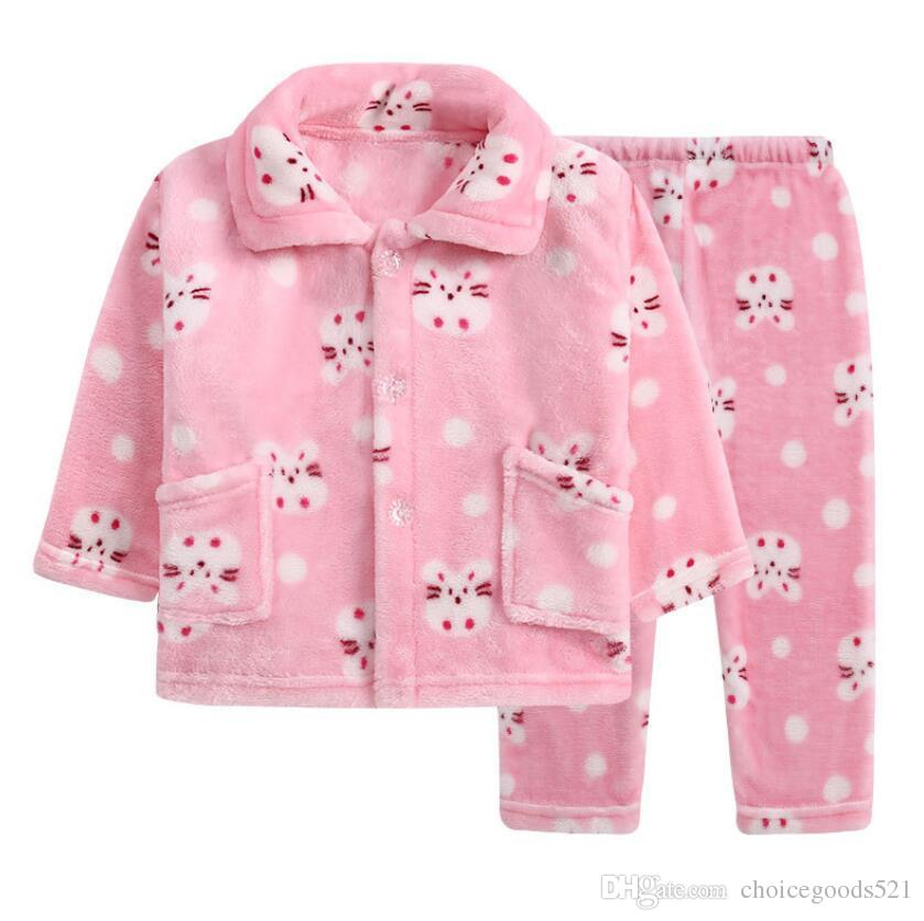 Kids Pajamas Winter Sleepwear Girl Nightwear Top+Pants Sets Flannel  Bathrobe Girls Robe Clothing Baby Clothes Nightgown Kids Pajamas Boys  Pajamas On Sale ... b875eac23