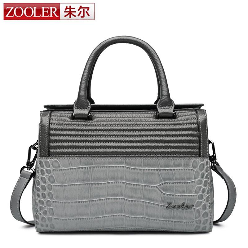 ZOOLER Genuine Leather Women Clutch Bags Elegant Gray Shoulder Bag Real Cowhide Purse Evening Party Handbags Classic Girl Gift