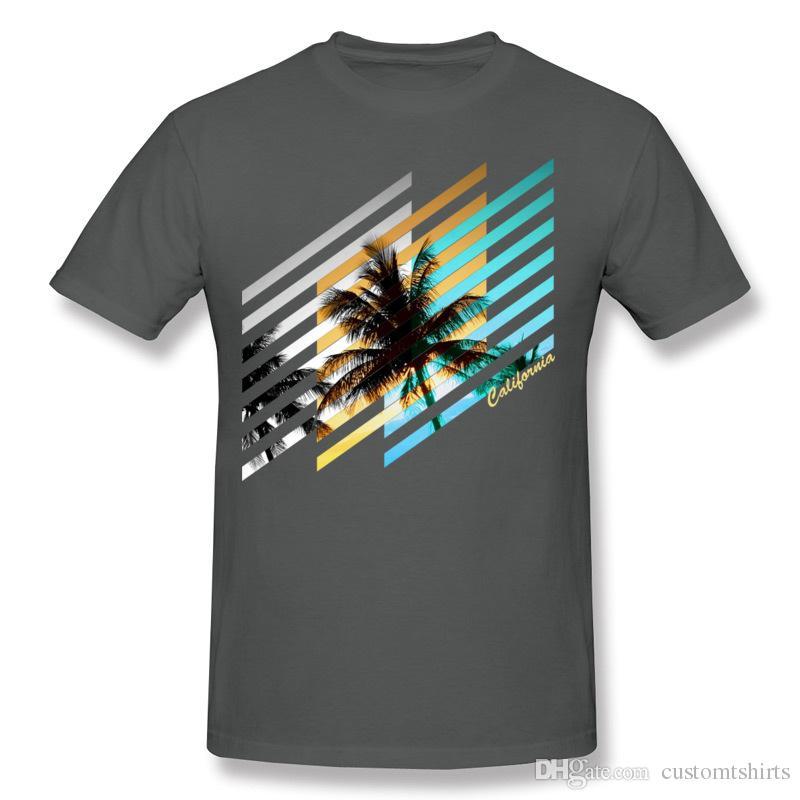 T-shirt da uomo a maniche lunghe in cotone 100% California T-shirt a manica corta bianca girocollo da uomo T-shirt extra large stampata sulla maglietta