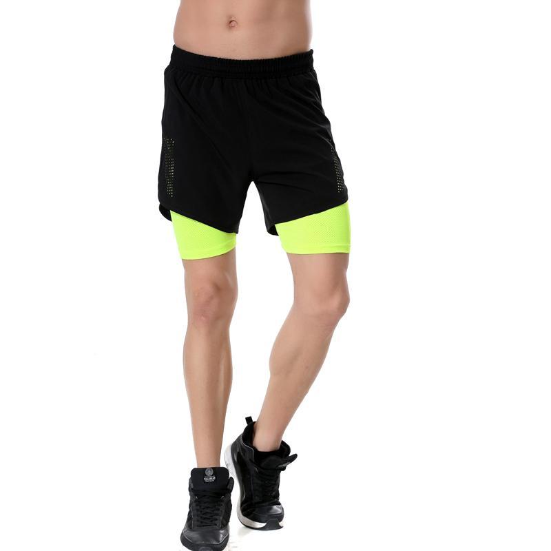 Compre 2 Em 1 Homens Calças De Compressão Shorts Correndo Esporte Ginásio Fitness  Jogging Shorts Homme Lycra Forro Maratona Treinamento Em Execução De Booni  ... decf6b613961c