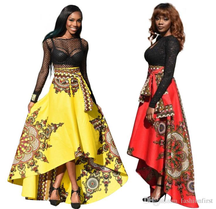 37c8f39b2d901 2019 Fashion African Print Skirt Designs Hi Lo Cheap African Clothing Plus  Size Summer Prom Skirt Ankara Women Wear From Fashionfirst