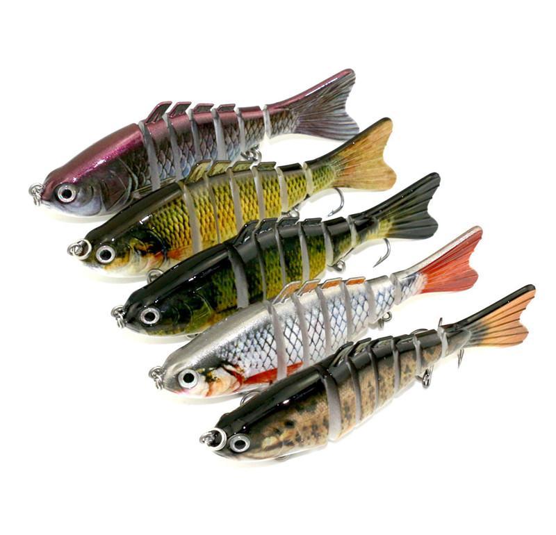 Абсолютно реалистичные, яркие Wobblder гольян рыболовные приманки 10 см 15.4 г 7segments моделирование рыбы дайвинг плавательный бас воблеры приманки