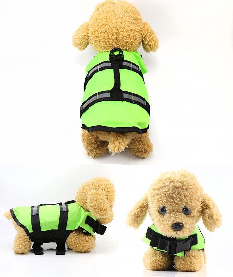 2018 Dog Saver Life Jacket Reflective Pet Preserver Multi-size Aquatic Safety Vest Small Large Dog Swimwear