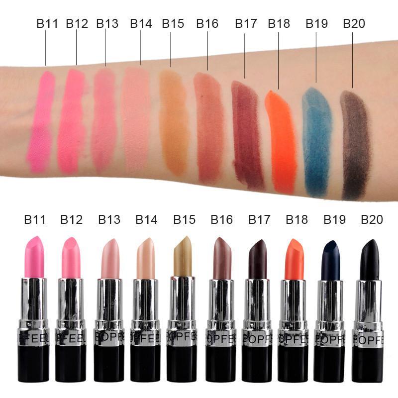 2018 Long Lasting Lips Stick Makeup Matte Lipstick Waterproof Cosmetic Beauty Make Up Matt Nude Lipsticks Pencil Sexy Red