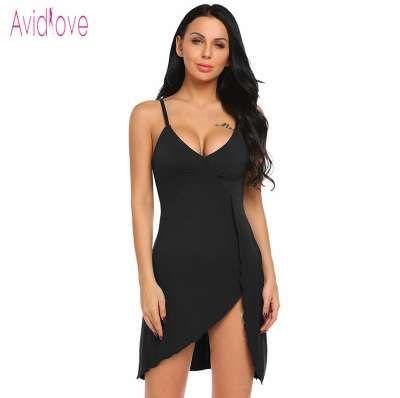 892a0ef3c9 2019 Avidlove Lady Cotton Nightgown Women Nightwear Night Dress Female  Sleeveless Nighty Sleepwear Sleep Sleepshirt Home Clothes XXL From Fadina