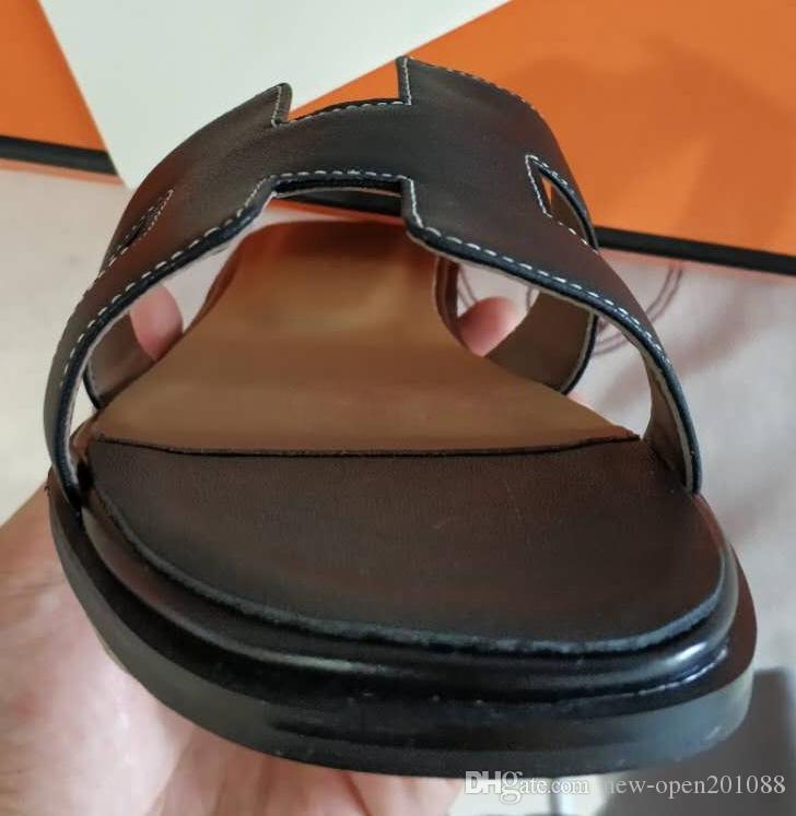 a6e24d35b0e4 H Brand Flats with Box Dust Bag Original Quality Sandals France ...