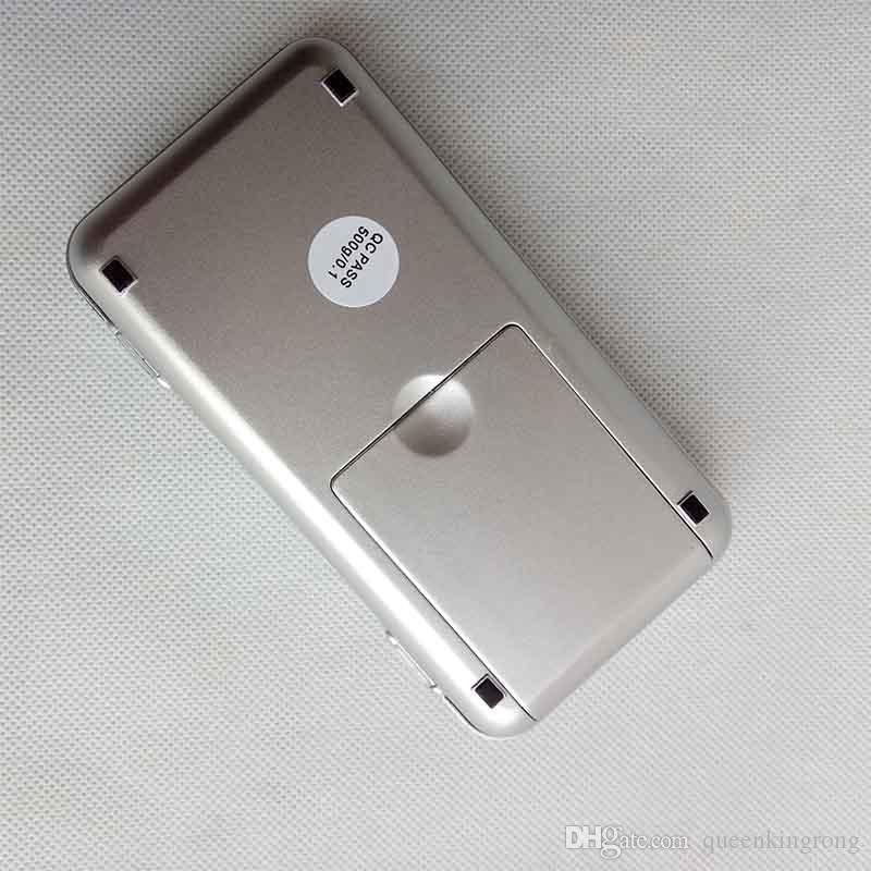 Mini Elektronische Digitalwaage Diamant Schmuck wiegen Waage Balance Pocket Gram LCD Display Waagen Mit Kleinkasten 500g / 0,1g 200g / 0,01g