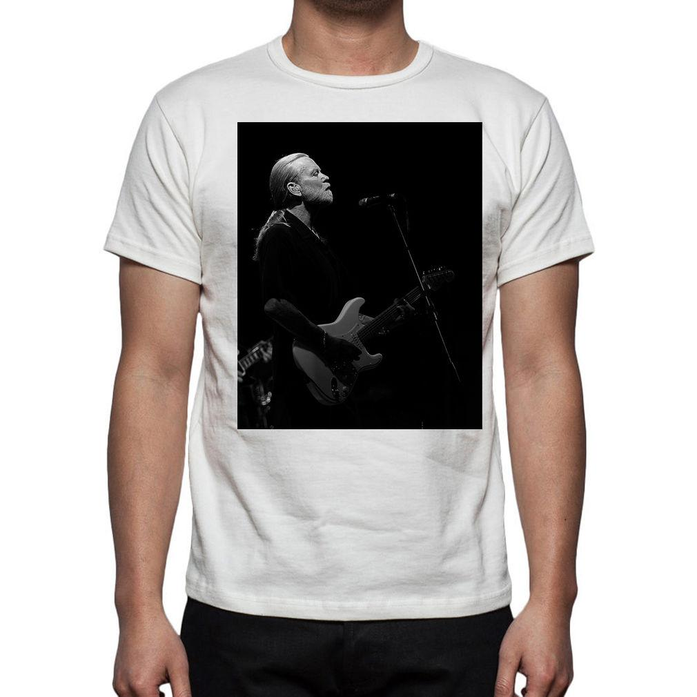 Music Men Gregg Allman Le T-Shirt Tribal Allman Brothers Band M167 Homme 2018 T-Shirt de Marque de Mode T-Shirt O-Neck 100% coton