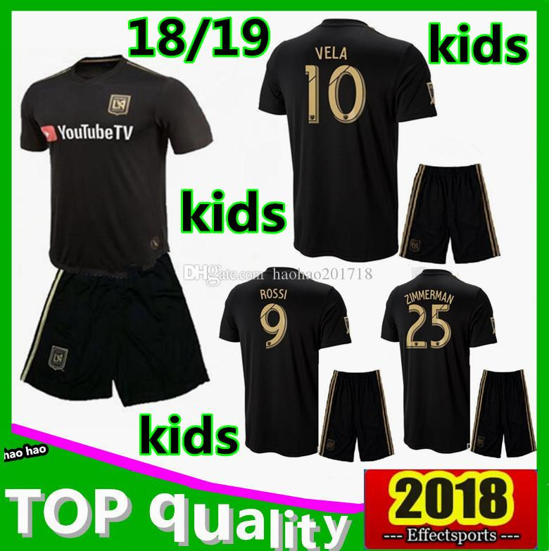 0159ae88a 2019 Kids Kit LAFC Carlos Vela Soccer Jerseys 2018 2019 Home GABER ROSSI  CIMAN ZIMMERMAN Away TOP Quality Football Shirt Los Angeles From  Haohao201718